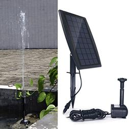 COODIA Solar Fountain 2.5W Solar Panel Kit 200L/H Submersibl