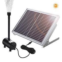 Solar Fountain Pump, Poweradd 10W Solar Powered Bird Bath Fo
