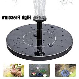 Solar Fountain Pump, Free Standing Solar Birdbath Fountain,