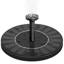 Zomma Solar Fountain Pump, Free Standing 1.4W Bird Bath Foun