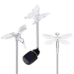 HCTro Solar Garden Lights, Crystal Upper Stake with Built in