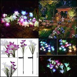 Outdoor Solar Garden Stake Lights - Doingart 2 Pack Solar Po