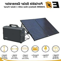 Solar Generator 2400Wh BackUp Power with 100W Solar Panel
