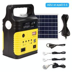 Solar Generator Lighting Home System Kit 12V 10W with Solar
