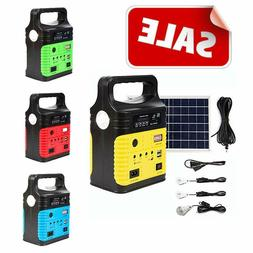 Solar Generator Lighting Home System Kit 12V 10W with Solar