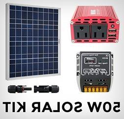 Solar Generator Starter Kit - Green Energy System 50W Panel
