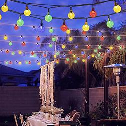 GreenClick Solar Globe String Lights, 40 Leds 19.6ft Solar P