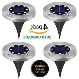 Solar Ground Lights,Upgraded Outdoor Solar Garden Light Wate