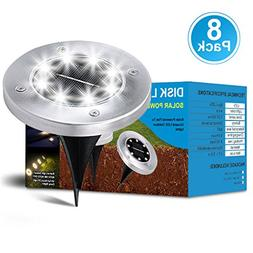 ikyou Solar Ground Lights Outdoor,Garden Pathway Light In-Gr