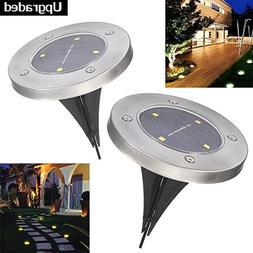 Solar Ground Lights PATHONOR 2 Pack Warm White Ray Pathway L