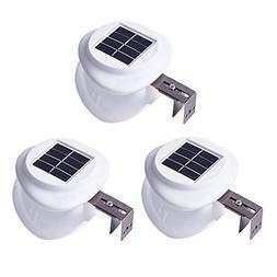 Solar Gutter Lights Outdoor, Wireless Waterproof Night Light