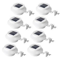 Easternstar Outdoor Solar Gutter Waterproof Lamp,3 LED Sun P