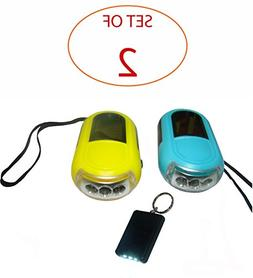 SleekLighting Solar Hand Crank Ultra Bright 3 LED Flashlight