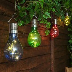 Dirance Solar LED Hanging Bulb Decorative, Outdoor Waterproo