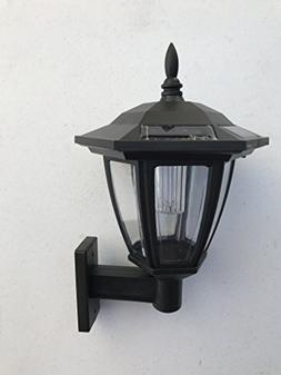 Solar Hexagon Wall Mount And Stakes Landscape Light With 6 B