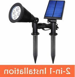 YINGHAO Solar Outdoor Indoor Spotlight 2 in 1 Installation I