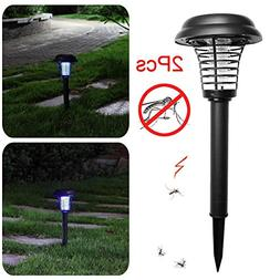Easydeal 2PCS Solar-Insect-Trap-Mosquito-Bugs-Killer-LED-Lig