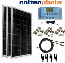 Solar KIT: 300 Watt 3pcs 100W Solar Panel w/ LCD Controller