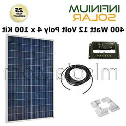 SOLAR KIT 400Watt 12V  4 x 100W Battery Charger Solar Panel