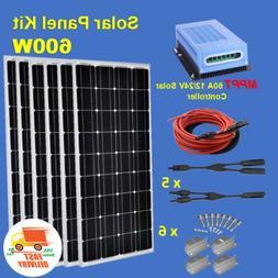 SOLAR KIT: 600 Watt PV Solar Panel Kit 60A 12V Charge Contro