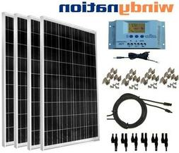 WindyNation 400 Watt Solar Kit: 4pcs 100 Watt Solar Panels +