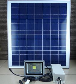Solar Lamp Led Aluminum Li Battery 20W Light 30W Solar Panel
