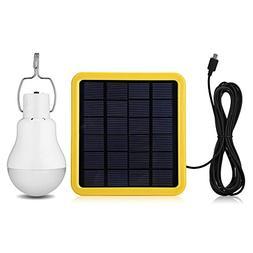 KK.BOL Solar Lamp Portable LED Light Bulb Solar Panel Powere