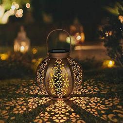 Petrala Solar Lantern Outdoor Decorative Metal Retro Hanging