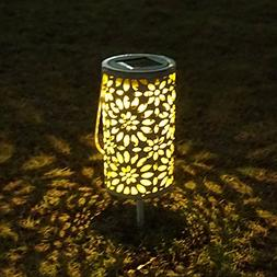 Petrala Solar Lantern Outdoor Hanging Vintage White Metal De