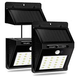 Solar Light, FEELLE Super brigh 20 LED Outdoor Waterproof Se