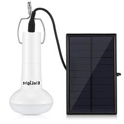 Solar Light Bulb, EleLight Portable LED Solar Powered Light,