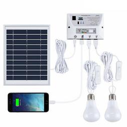 Solar Lighting System Portable Emergency Home Light Kit with