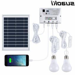 Solar Lighting System Portable Home Light Kit with Solar Pan