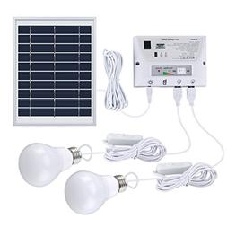 SUAOKI Solar Lighting System Portable Home Light Kit with So
