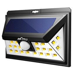LITOM Solar Lights, 24 LED Motion Sensor Solar Lights Outdoo