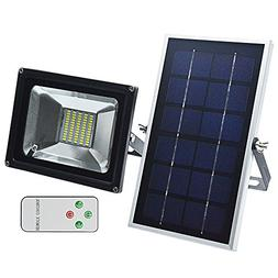 GLW LED Solar Lights, Remote Control Outdoor Security Flood