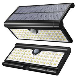 Vmanoo Solar Lights 58 LED Foldable Wireless Wall Light Outd