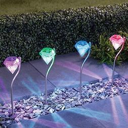 Solar Lights Outdoor - SurLight Solar Garden Lights Color Ch