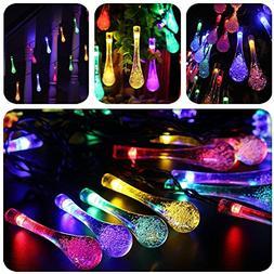 LED Solar Lights - Lehe trading 23 ft 50 LED Water Drop Fair