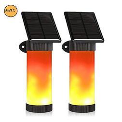 AVEKI Solar Lights Dancing Flame, 102 LEDs Solar Wall Light