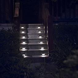 Solar Lights for Steps Decks Yard Stairs Fences, LED lamp,