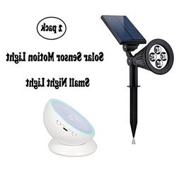 Solar Lights and LED Night Light ,2-in-1 Waterproof 4 LED So