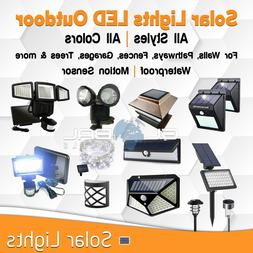 Solar Lights Panel LED Garden Outdoor Light Decor Home All C