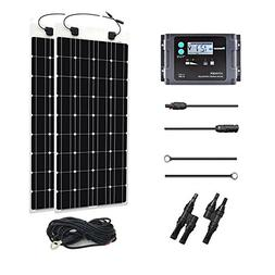 Renogy 200 Watt 12 Volt Solar Marine Kit with 20A PWM Waterp