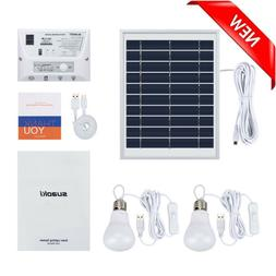 Suaoki Solar Mobile Lighting System with Solar Panel 2 Lamps