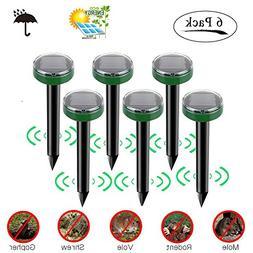 STONE Solar Mole Repellent 6 Pack, Mosquito Repeller Waterpr