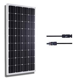 KOMAES SOLAR 100W Monocrystalline Solar Panel 12V Charger Wi