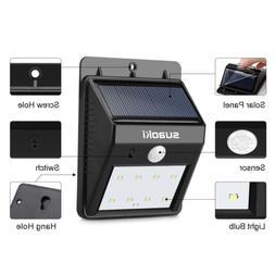 Suaoki Solar Motion Sensor Light 8 LED Waterproof Yard Secur