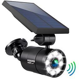 Solar Motion Sensor Light Outdoor 1400Lumens 5-Watts Aluminu
