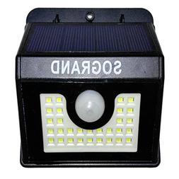 Sogrand Solar Motion Sensor Light Security Lights Outdoor 2P